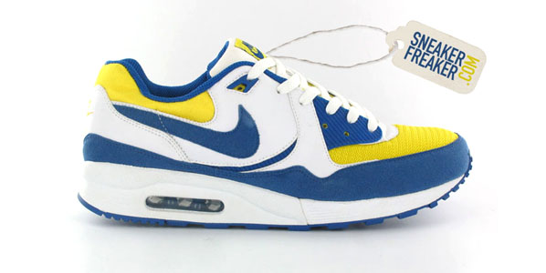 blue and yellow air max