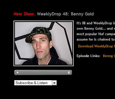 weekly drop interview benny gold