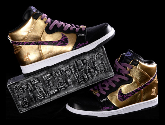 the Nike Dunk Hi Customs by top sneaker customizers