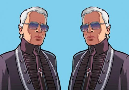 Grand Theft Auto IV featuring Karl Lagerfeld