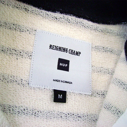 huf x reigning champ sweat henley