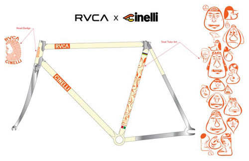 RVCA x Barry McGee x Cinelli Bicycle