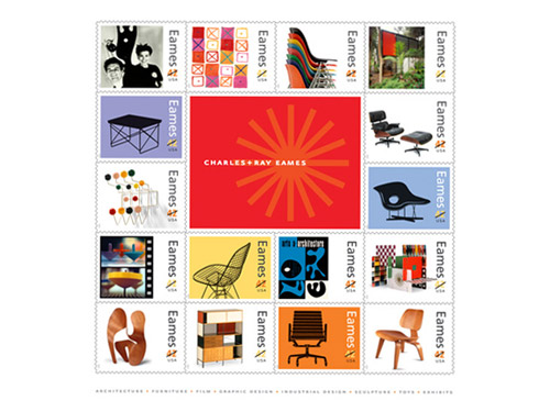 charles ray eames x united states postal service stamps