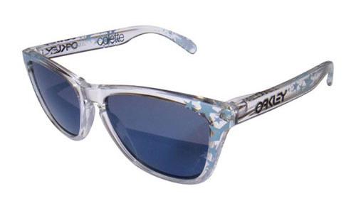 These glasses are  Oakley Frogskin Sunglasses
