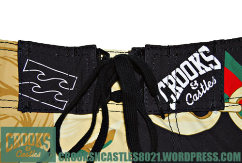 crooks castles x billabong board shorts