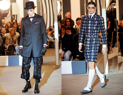thom browne fall 2008 argyle collection