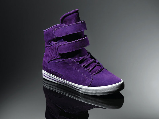 purple supra sneakers