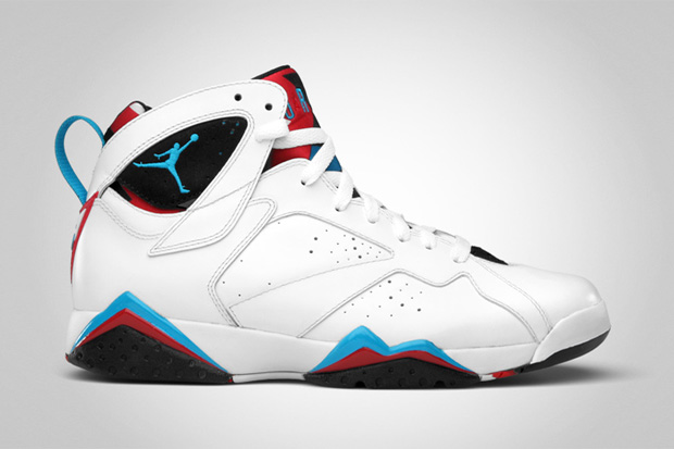 red white and blue jordan 7s