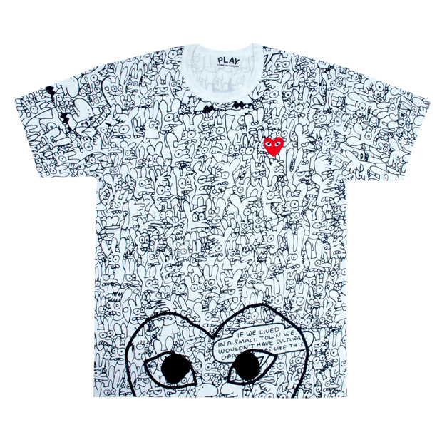 comme des garcons x matt groening binky sheba play capsule collection