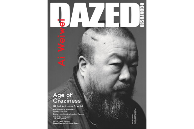 dazed confused 2011 june issue featuring ai weiwei