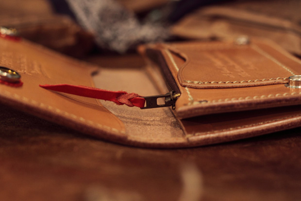 larry smith for ssddfuct leather hand made wallets