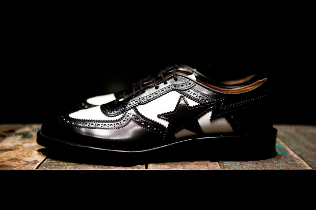mr bathing ape x regal sta longwing brogues
