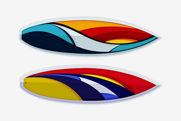 "TOM VEIGA ""Wave"" Series – Surfboards"