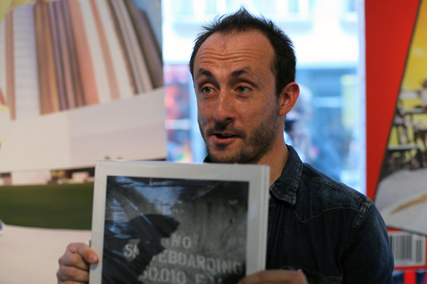 http://hypebeast.com/2011/6/no-skateboarding-by-mathias-fennetaux-book-signing-colette