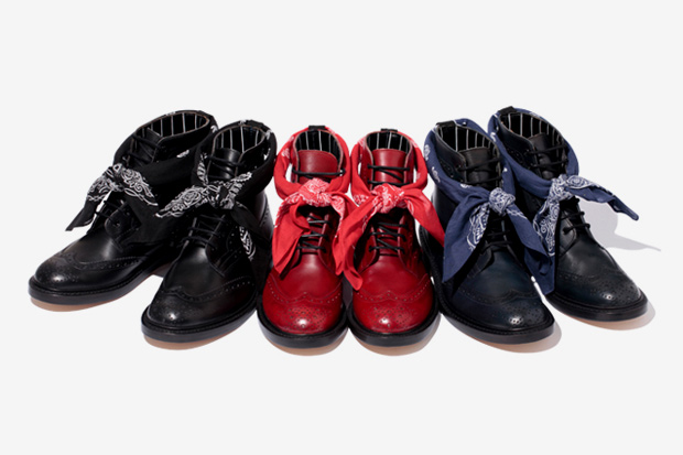 swagger x trickers 7 hole wing tip boots