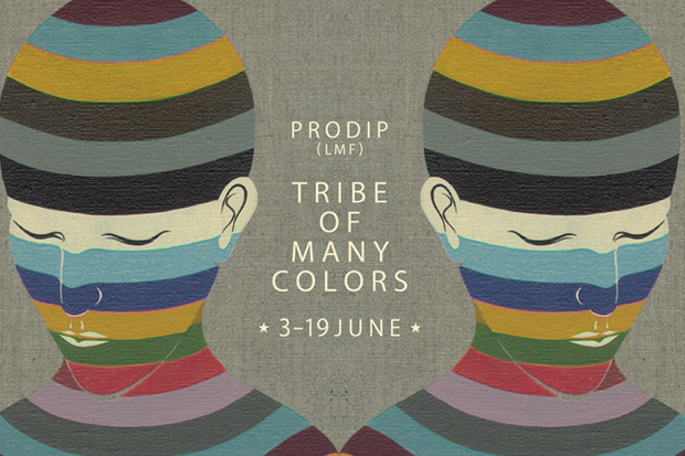tribe of many colors paintings by prodip