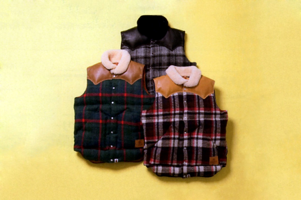 a bathing ape x rocky mountain featherbed co down vests preview