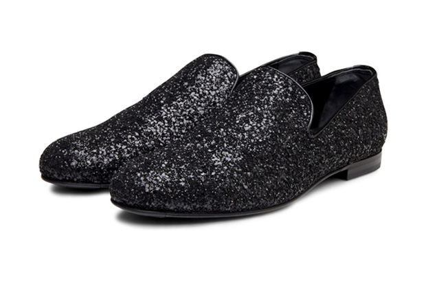 jimmy choo glitter penny loafers