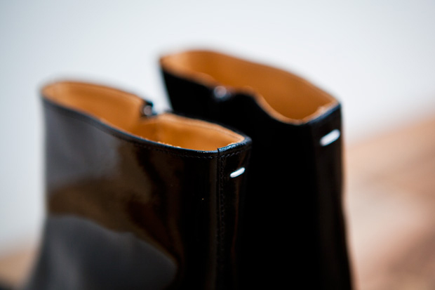 maison martin margiela 2011 pre fall patent shaded boots