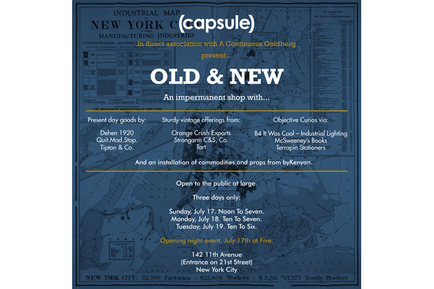 old new pop up shop new york