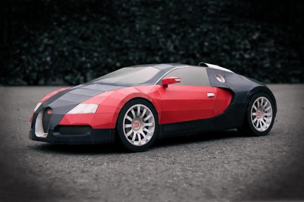 bugatti veyron made from a4 paper video hypebeast. Black Bedroom Furniture Sets. Home Design Ideas