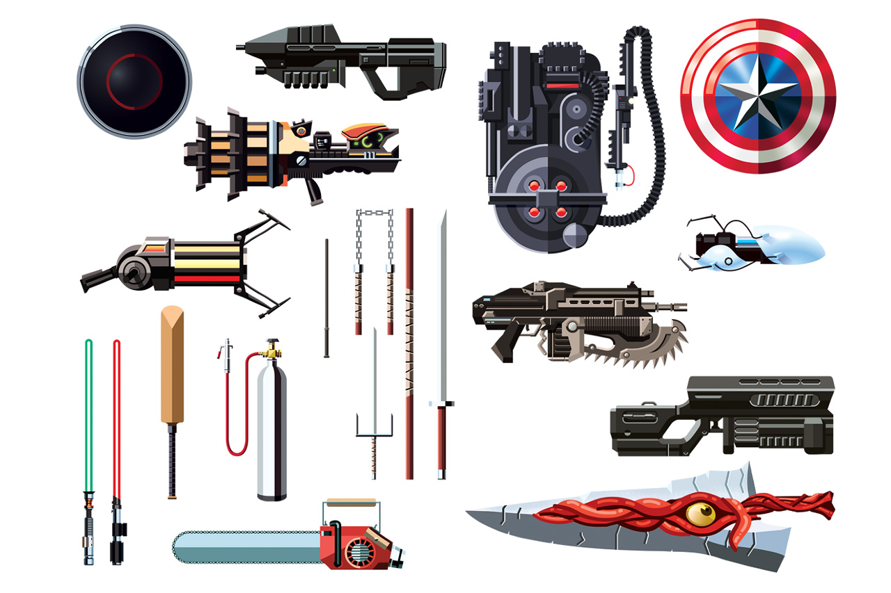 Daniel Nyari Illustrates Famous Weapons from Movies and ...