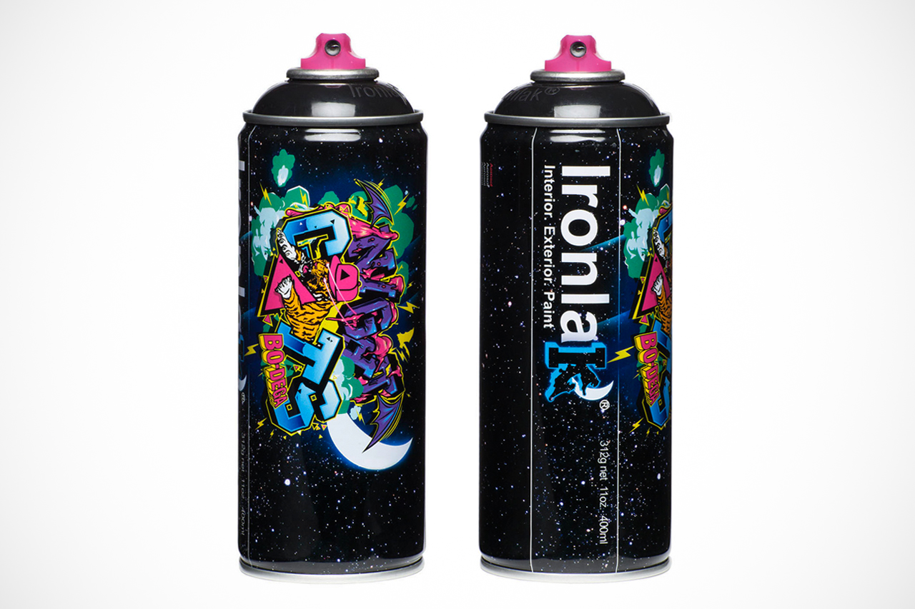 Bodega x ironlak paints murdered out can hypebeast Paint with spray can