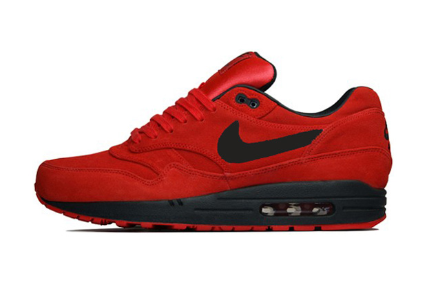 air max 1 all red