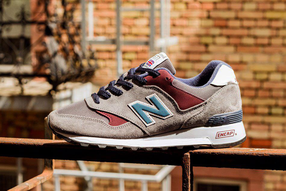 New Balance 577 Grey Red Navy