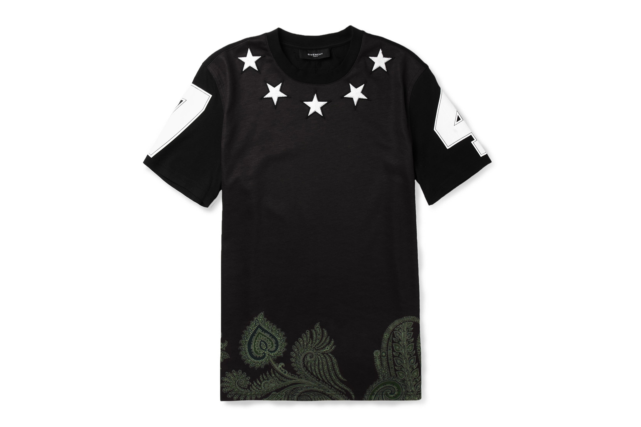 givenchy star embellished printed cotton t shirt hypebeast. Black Bedroom Furniture Sets. Home Design Ideas