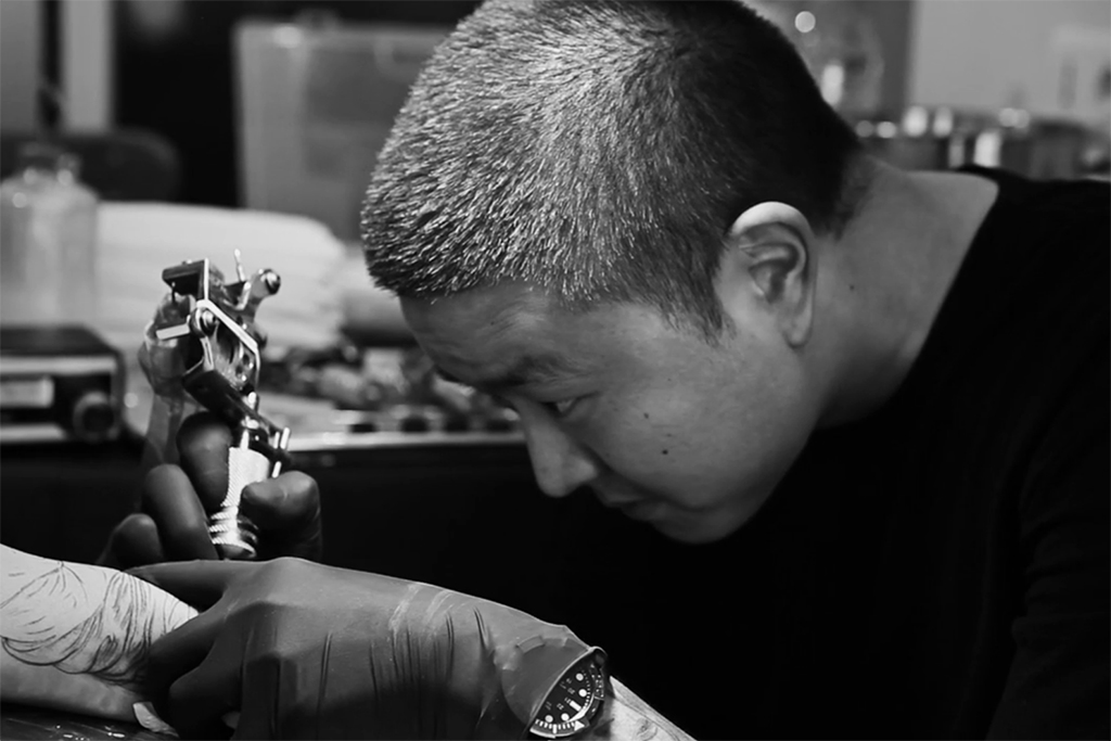 Jun cha redefines the creative process of tattooing for Process of tattooing