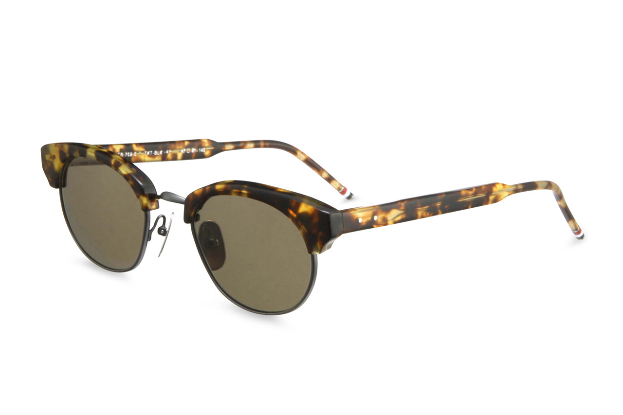 Thom Browne 2013 Spring/Summer Round Gold Frame Sunglasses ...