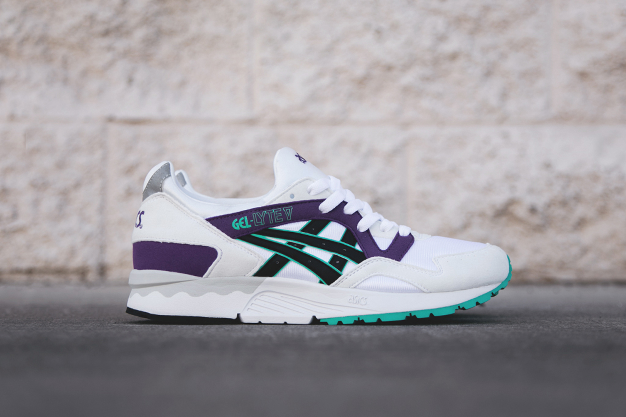 asics gel lyte v white purple teal hypebeast. Black Bedroom Furniture Sets. Home Design Ideas