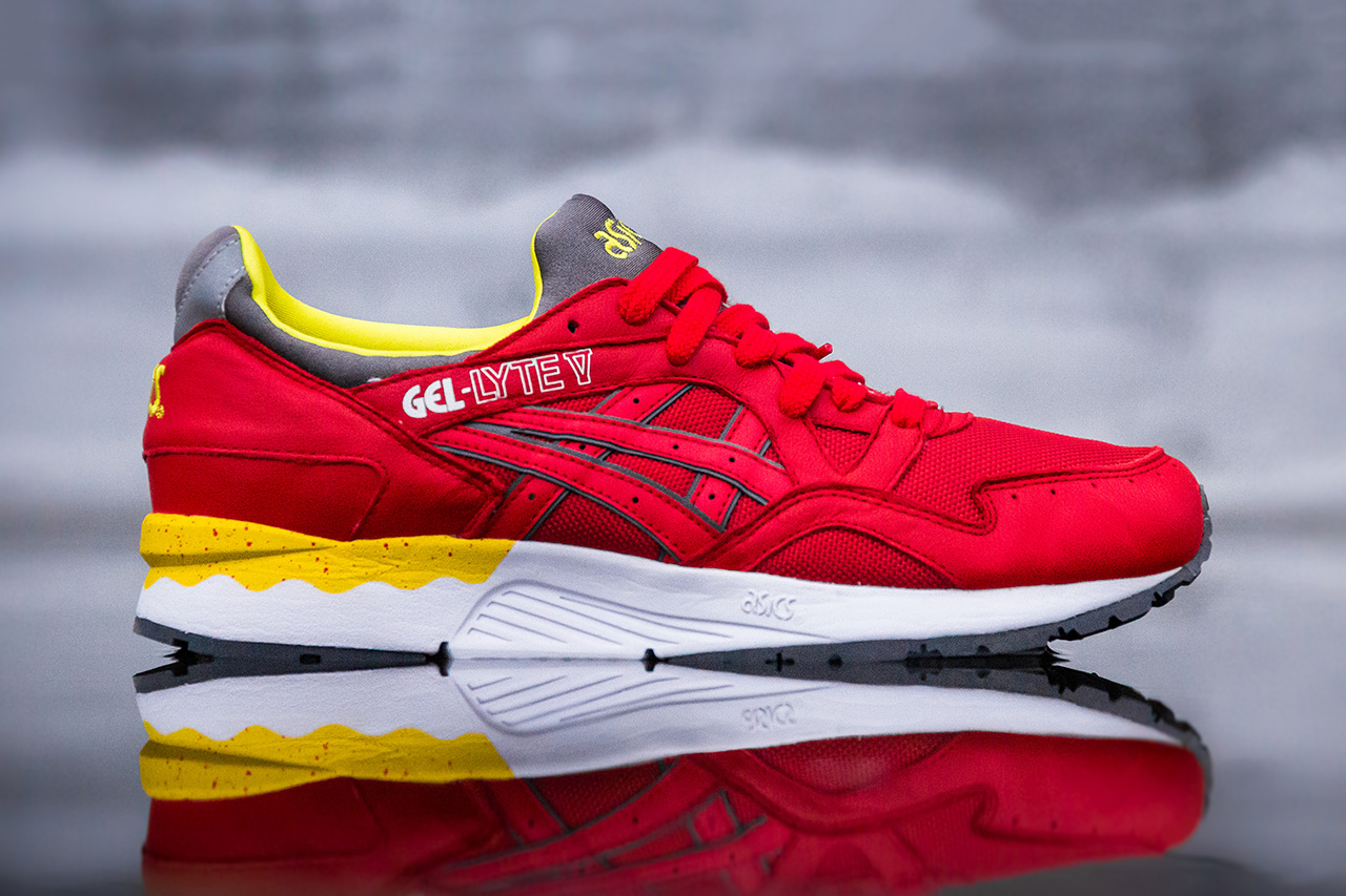 asics gel lyte v fiery red hypebeast. Black Bedroom Furniture Sets. Home Design Ideas