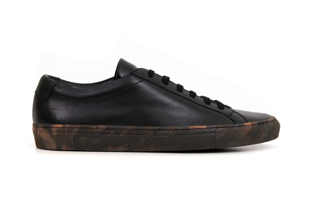 dover street market x common projects achilles camouflage hypebeast. Black Bedroom Furniture Sets. Home Design Ideas