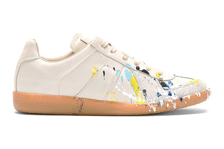 Maison martin margiela light grey paint splatter replica for Replica maison martin margiela