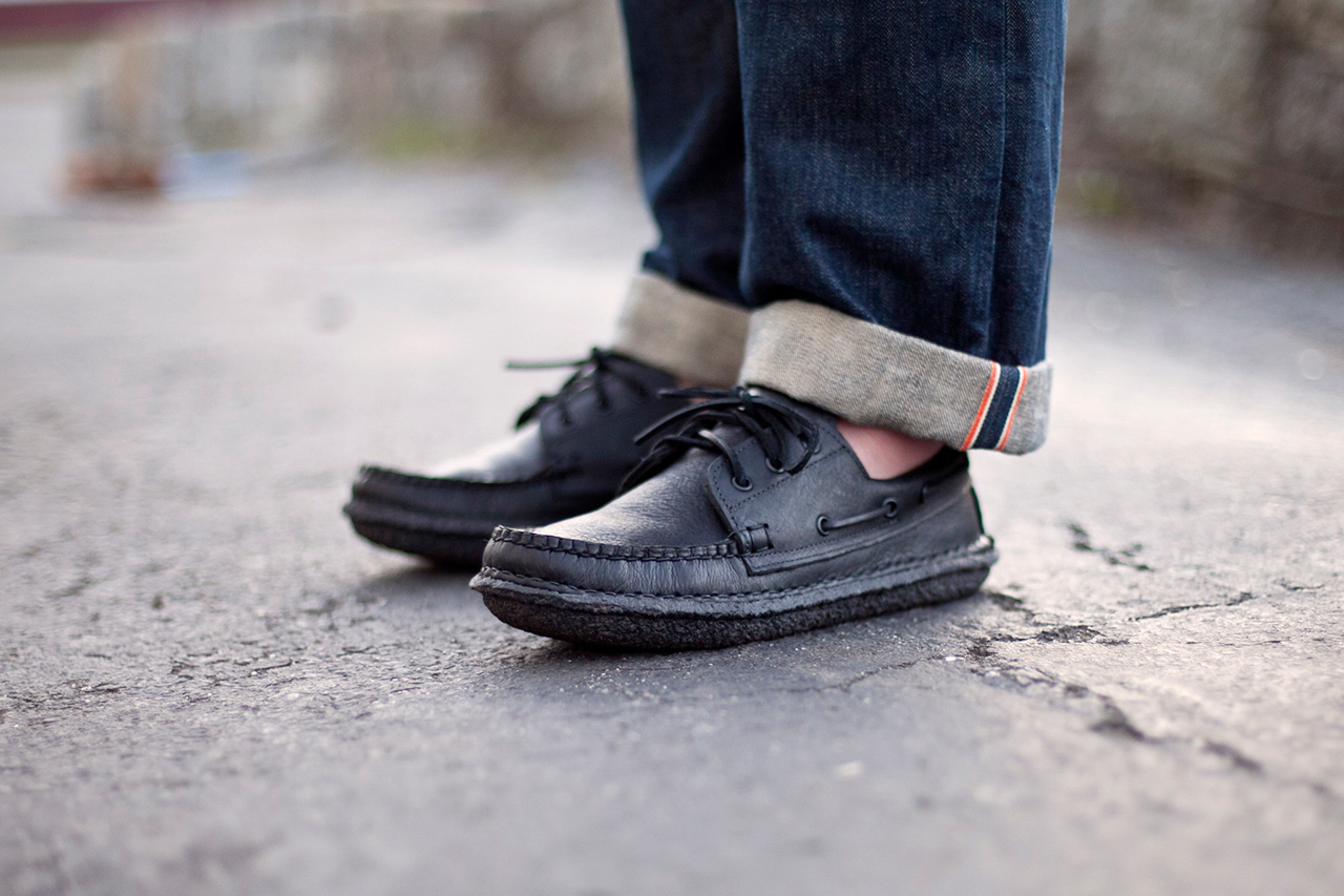 New England Outerwear Co. 3 Eye Boat Shoe U0026quot;Blacked Outu0026quot; | HYPEBEAST