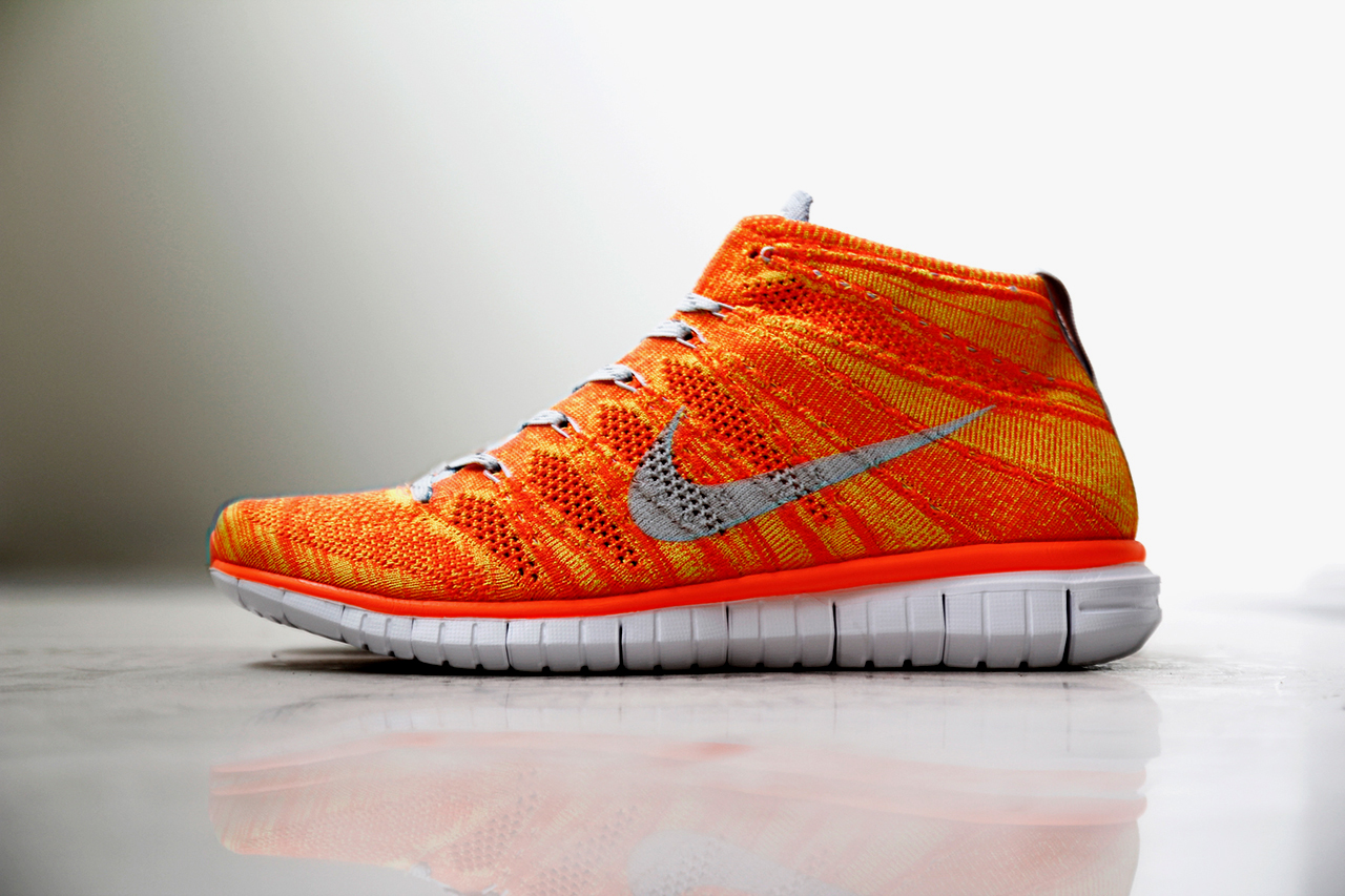 nike free flyknit chukka orange volt hypebeast. Black Bedroom Furniture Sets. Home Design Ideas