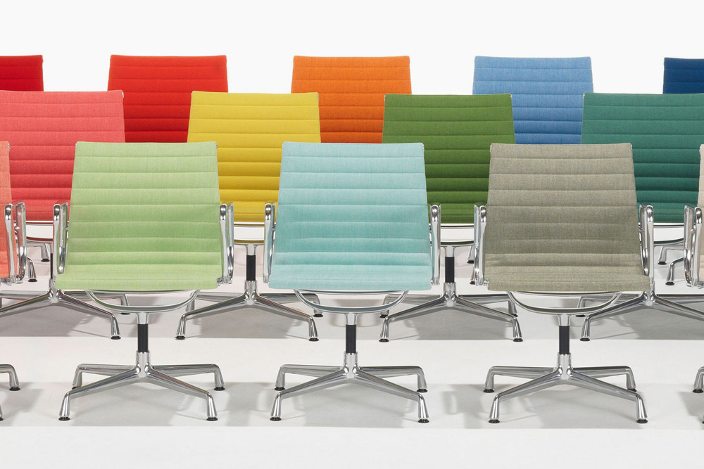 vitra unveils bold new colors for aluminum eames chair. Black Bedroom Furniture Sets. Home Design Ideas