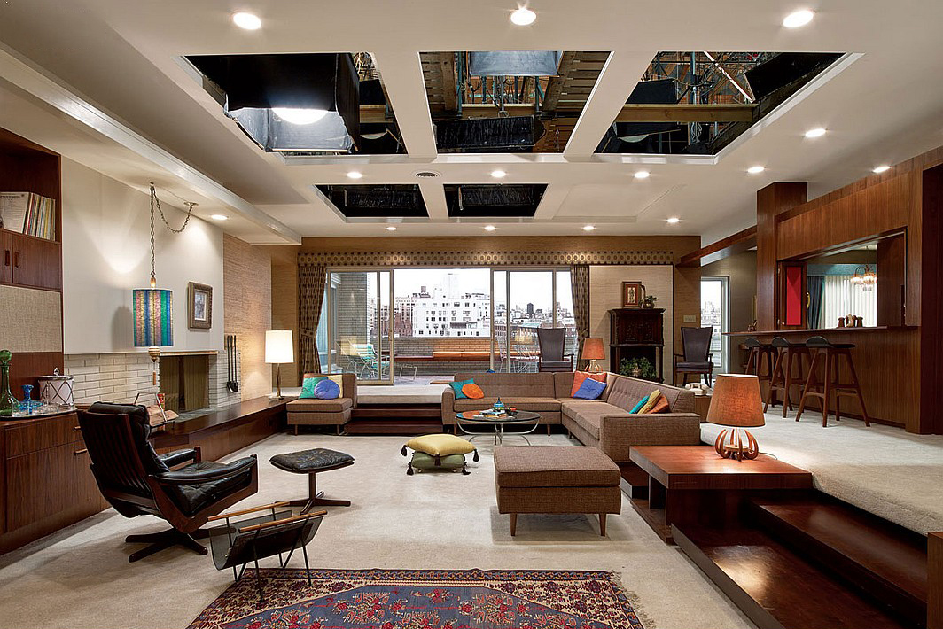 Inside the set designs of mad men hypebeast for Interior design ideas for mens living room