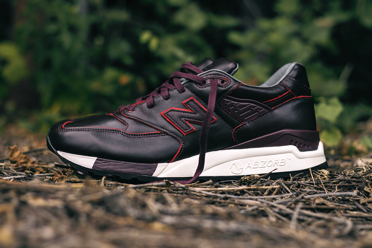 horween leather x new balance m998dw brown burgundy mix hypebeast. Black Bedroom Furniture Sets. Home Design Ideas