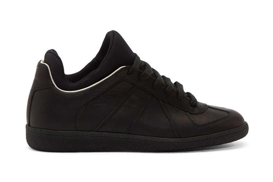 Maison martin margiela black leather integrated neoprene for Replica maison martin margiela