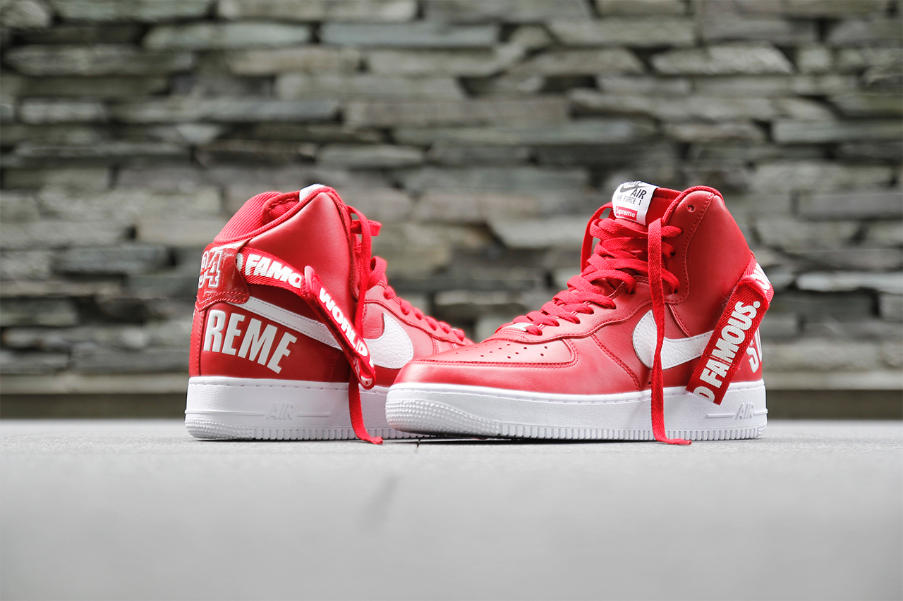 Nike Air Force Supreme Red