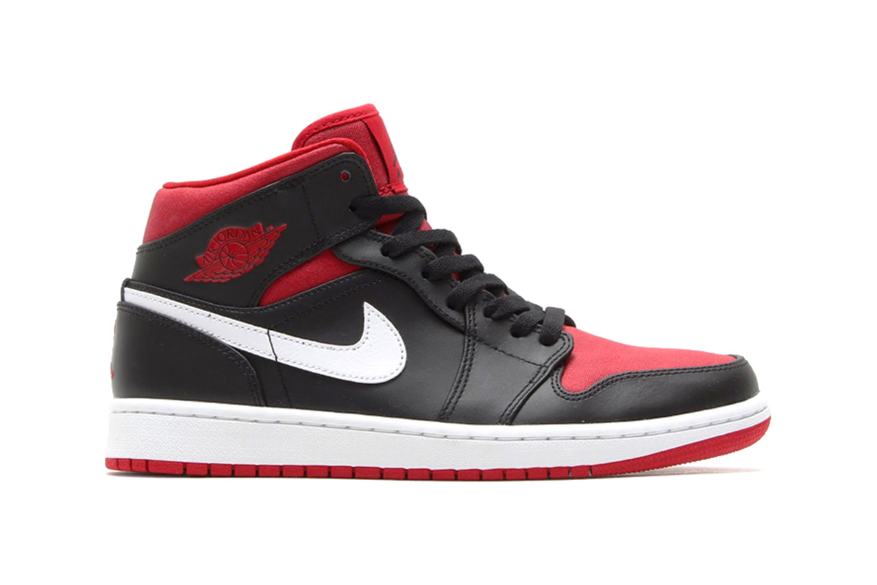 air jordan 1 mid black white gym red hypebeast. Black Bedroom Furniture Sets. Home Design Ideas