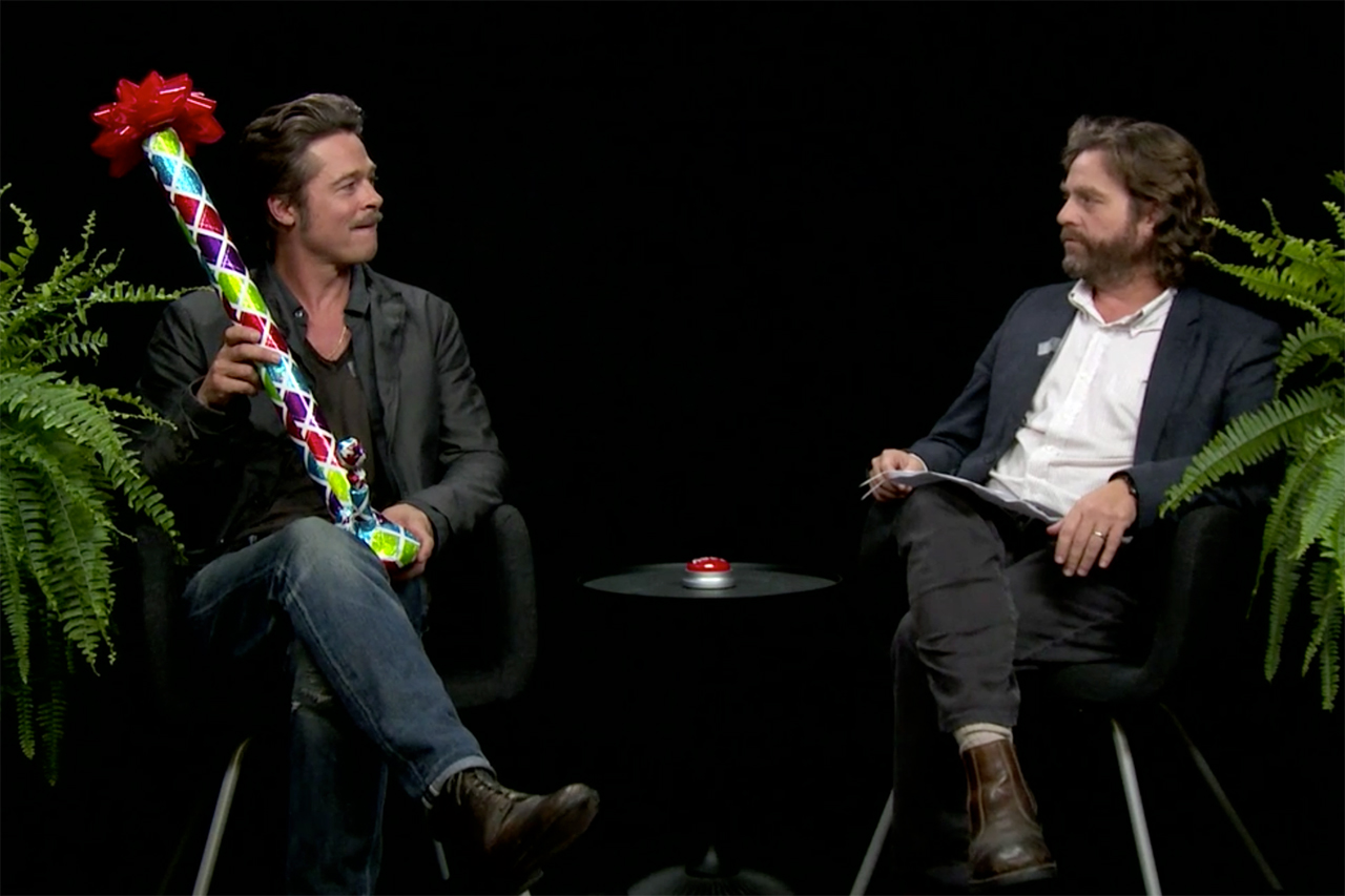 brad pitt joins zach galifianakis on between two ferns