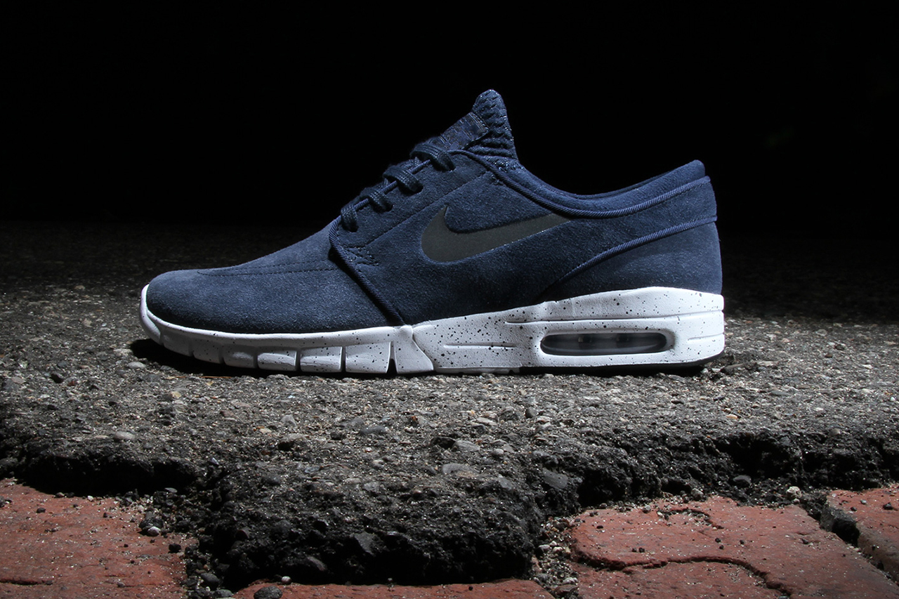 nike sb stefan janoski max obsidian white black hypebeast. Black Bedroom Furniture Sets. Home Design Ideas