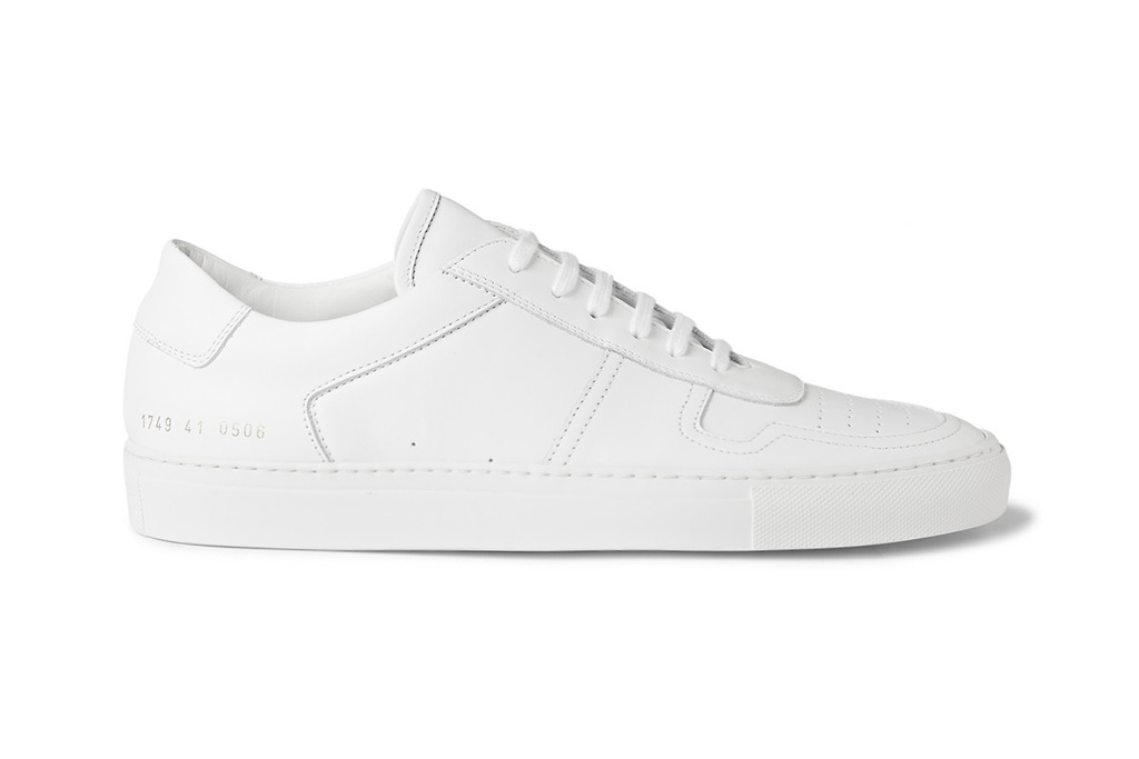 common projects white bball low leather sneakers hypebeast. Black Bedroom Furniture Sets. Home Design Ideas
