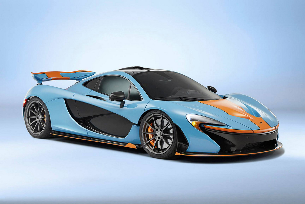 mclaren p1 in gulf oil racing color scheme hypebeast. Black Bedroom Furniture Sets. Home Design Ideas