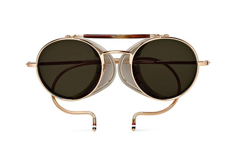 Thom Browne Round-Frame Gold-Tone Sunglasses HYPEBEAST