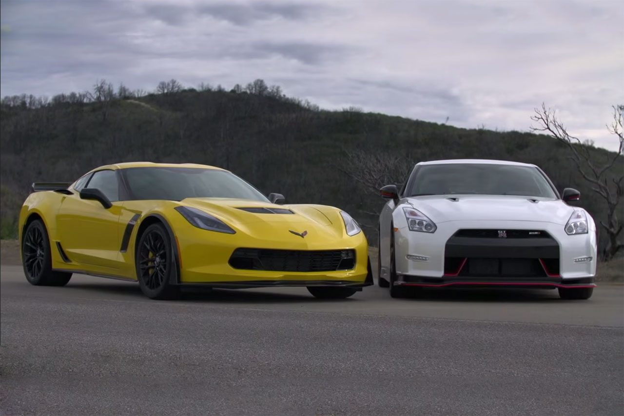 2015 corvette z06 and 2015 nissan gt r nismo go head to head hypebeast. Black Bedroom Furniture Sets. Home Design Ideas